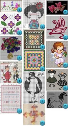 More Free Cross Stitch Charts