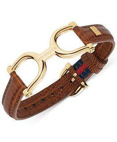 A cute companion piece to your riding boots, Tommy Hilfiger belt bracelet