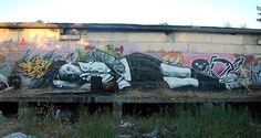 """by """"Bankski"""", russian street artist P183"""