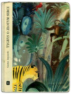 tygers o zeotym sercu - jungle illustration by Józef Wilkoń