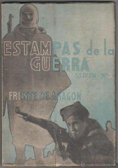 Libro Estampas de la guerra, album nº 3 Frente de Aragón Guerra Civil española - Foto 1
