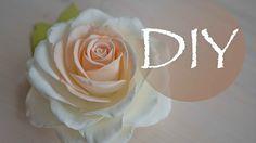 Реалистичная роза из фоамирана
