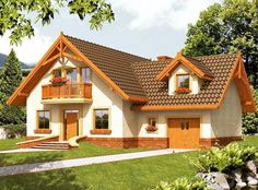 Kerala House Design, Small House Design, Three Bedroom House Plan, House Plants Decor, Cottage Style Homes, Cabins And Cottages, Home Design Plans, White Houses, Traditional House