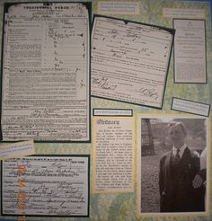 Family history scrapbook pages