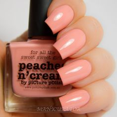 piCture pOlish Peaches n Cream swatched by Manicurator! So pretty!