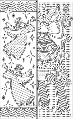 8 Christmas coloring bookmarks #christmasbookmarks #coloring #christmas Abstract Coloring Pages, Detailed Coloring Pages, Bible Coloring Pages, Flower Coloring Pages, Mandala Coloring Pages, Coloring Pages For Kids, Coloring Books, Christmas Coloring Sheets, Easter Arts And Crafts