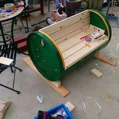 Discover thousands of images about Oil drum BBQ, took me days Garage Furniture, Barrel Furniture, Automotive Furniture, Metal Furniture, Industrial Furniture, Pallet Furniture, Furniture Projects, Furniture Design, Metal Projects