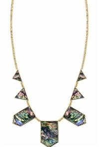House of Harlow Gold Abalone Five Station Necklace