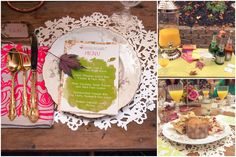 Squash Blossom Kitchens Catering with menus by @Honey Bee Invites