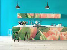 Hol dir den Frühling in die Küche und gestalte diese ganz individuell mit einer Design- #Küchenfolie von creatisto!