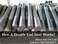 How A Double End Stud Works? #DoubleEndStud #NutsBolts
