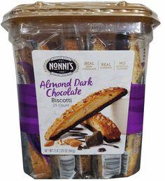 Nonni's Almond Dark Chocolate Biscotti 24 Count Large Container PLEASE READ #Nonnis