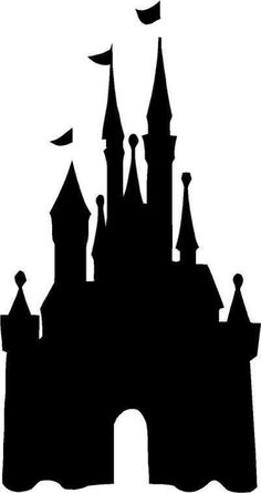 Cinderella Castle Silhouette | Disney Castle Chalkboard. I'm so going to try this with my Cricut in a ...