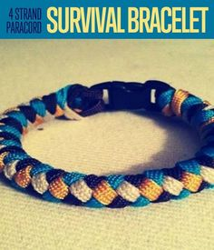 Learn How to Tie a 4 Strand Paracord Braid with a Core and Buckle. It's feminine-looking but still highly functional. Check out this tutorial for details.