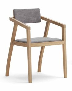 We love this striking, angular, timber frame armchair - 'Aki' http://www.furniturefusion.co.uk/ProductDetails/Aki #contractfurniture #timber #wooden  #armchair #interiors