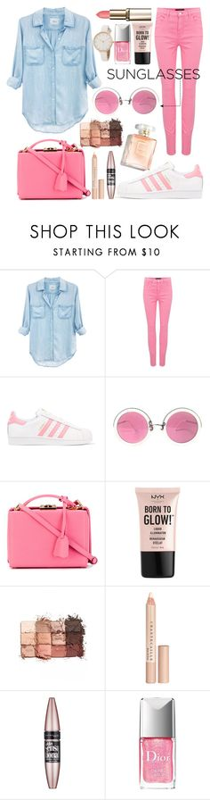"""Sunglasses."" by southernautumn ❤ liked on Polyvore featuring Rails, J Brand, adidas Originals, Christian Lacroix, Mark Cross, NYX, tarte, Chantecaille, Maybelline and Christian Dior"