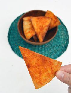 doritos, caseros, nachos, aperitivo, snack, ilustración, receta