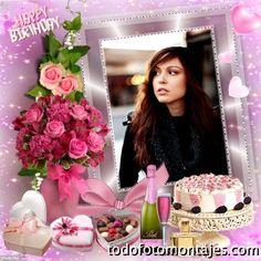 fotomontajes de cumpleaños para mujeres