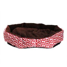QIYUN.Z Polka Pot Soft Plush Round-Shaped Soft Comfy Dog Cat Bed Pet Supplies   ONE Pillow Free *** Check this awesome product by going to the link at the image. (This is an Amazon affiliate link)
