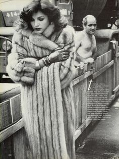 Shot by Helmut Newton for Vogue, October 1980
