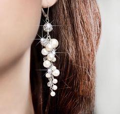 Swarovski Bridal Earrings, Pearl Bridal Earrings, Art Deco Bridal Earrings, Gatsby Bridal Jewelry, 20s Wedding Jewelry on Etsy, $92.00