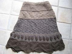 Fun sampler skirt designed for you to to play around with new stitches, and make increases according to your very own shape! Also available as a dress.
