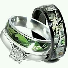 Camo Wedding Rings Set His And Hers