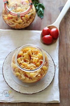 Pasta e patate in VC Camembert Cheese, Waffles, Banana, Canning, Breakfast, Recipes, Cot, Foods, Drinks