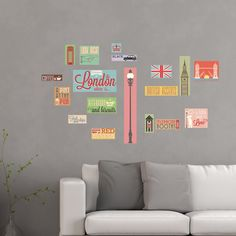 Home Decor Line London Icons Wall Decal