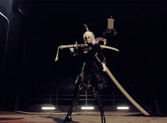 "delsinsfire: ""2B sheathing her sword is the most graceful thing ever """