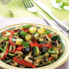 Some Tasty and Healthy Tefal ActiFry Recipes Tefal Actifry, Betty Draper, Air Fry Recipes, Vegetable Recipes, Recipe T, Fried Vegetables, Vegetable Stir Fry, Heart Healthy Recipes, Healthy Choices