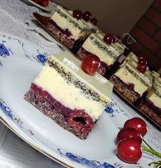 Poppy Cake, Kolaci I Torte, Hungarian Recipes, Cake Bars, Cupcakes, Recipies, Cheesecake, Cherry, Food And Drink