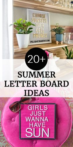 tablero de letras para el verano -Refranes del tablero de letras para el verano - Letter boards are so fun and add a personal touch to any space. Get yourself a letter board and then try some of these 101 Best Letter Boards Sayings! Dollar Store Crafts, Dollar Stores, Diy Valentine's Pillows, Easy Crafts, Diy And Crafts, Summer Humor, Funny Summer Quotes, Summer Puns, Summer Sayings