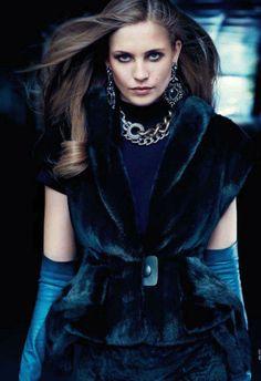new fur: nadja bender by max vadukul for vogue china october 2012