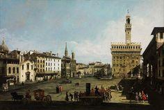 Bernardo Bellotto, Piazza della Signoria in Florence, 1742