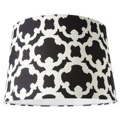 Threshold� Flocked Lamp Shade - Large