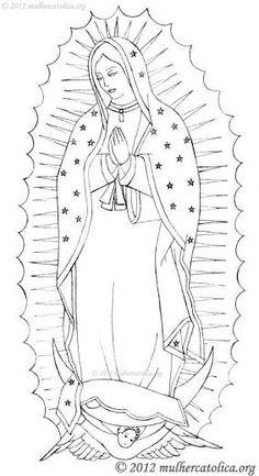 Para Colorear Virgen De Guadalupe Para Colorear
