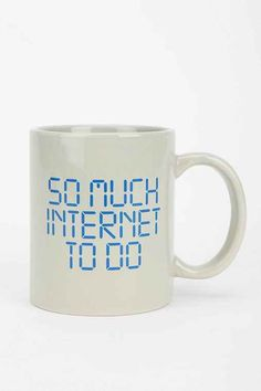 So Much Internet Mug - Urban Outfitters