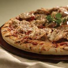 Grilled Mediterranean Greek Pizza with Sundried Tomato Chicken Sausage - Allrecipes.com