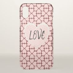 LOVE Pink Hearts iPhone X Case - customizable diy