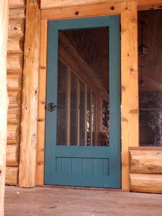 Projects, progress, thoughts, stuff: Some screen doors – farmhouse front door with screen Cabin Doors, Porch Doors, Entry Doors, Entryway, Front Door With Screen, Wood Screen Door, Vintage Screen Doors, Wooden Screen, Patio Door Handle