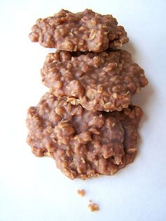 "OMG! This is my ABSOLUTE FAVORITE childhood food...ok, still my favorite...just haven't had it in awhile. Not exactly the same recipe (I remember using cocoa powder, not chocolate chips)...Chocolate and Peanut Butter ""No Bake Cookies."" SOOOO easy and so incredibly DELISH!!!! :)"