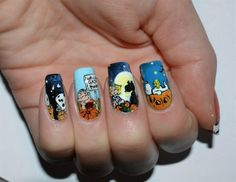 It's the Great Pumpkin Charlie Brown Nails... cute for mama!