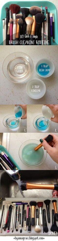 DIY brush cleaner