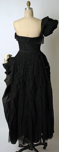 Evening dress House of Lanvin  (French, founded 1889)   Designer: Jeanne Lanvin (French, 1867–1946) Date: 1949 Culture: French Medium: silk. Back