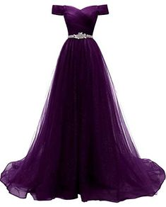 Women's A-line Tulle Prom Dresses Off The Shoulder Formal Evening Ball Gown Damen A-Linie Tüll Ballkleider Schulterfrei Formelles Abendballkleid Tulle Ball Gown, Ball Gowns Prom, Tulle Prom Dress, Ball Dresses, Evening Dresses, Dresses Elegant, Cute Prom Dresses, Pretty Dresses, Beautiful Dresses