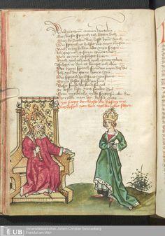 46 [21v] - Ms. germ. qu. 12 - Die sieben weisen Meister - Page - Mittelalterliche Handschriften - Digitale Sammlungen Frankfurt, 1471
