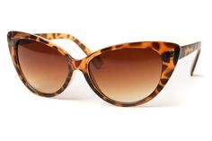 I'm all about cat-eye and tortoise. What better find than these sunglasses.