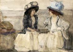Isaac Israëls - Elegante dames aan het converseren