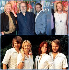"""ABBA in 1977 and now 2016 !  On January 20 , officially inaugurated """" Mamma Mia! The Party """". The big surprise was that the four members of ABBA were there, is the group's first meeting since the premiere of the film """"Mamma Mia!"""" at Stockholm on July 4, 2008."""